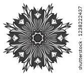 modern decorative floral color... | Shutterstock .eps vector #1238222437
