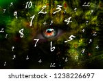 numerology and space  world of... | Shutterstock . vector #1238226697
