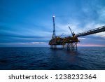 offshore oil platform in the... | Shutterstock . vector #1238232364