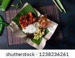 nasi lemak ayam berempah | Shutterstock . vector #1238236261