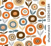 seamless vector pattern with... | Shutterstock .eps vector #1238241184