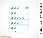 vector icon server 10 eps | Shutterstock .eps vector #1238245804