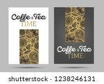 coffee time and tea posters... | Shutterstock .eps vector #1238246131
