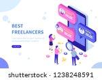 freelancers service concept... | Shutterstock . vector #1238248591