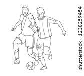 football players disputing a...   Shutterstock .eps vector #1238259454