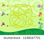 maze game for kids. help... | Shutterstock .eps vector #1238267731