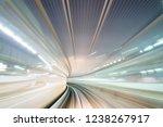 moving bright light train... | Shutterstock . vector #1238267917