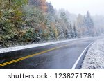 october snow and fall color...   Shutterstock . vector #1238271781
