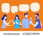 vector illustration  social... | Shutterstock .eps vector #1238274094