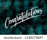 congratulations handwriting... | Shutterstock . vector #1238275897