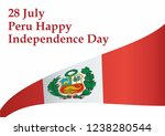 peru happy independence day ... | Shutterstock .eps vector #1238280544