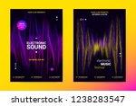 techno music poster. wave flyer ... | Shutterstock .eps vector #1238283547