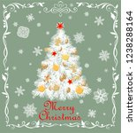 paper cutting christmas white... | Shutterstock .eps vector #1238288164