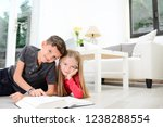 two young happy kids brother... | Shutterstock . vector #1238288554