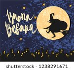 cute vector art of old witch... | Shutterstock .eps vector #1238291671