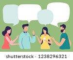 vector illustration  social... | Shutterstock .eps vector #1238296321