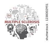 multiple sclerosis banner.... | Shutterstock . vector #1238302951
