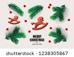 merry christmas and happy new... | Shutterstock .eps vector #1238305867