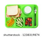 serving tray with healthy food... | Shutterstock . vector #1238319874