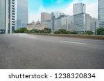road ground and urban skyline... | Shutterstock . vector #1238320834