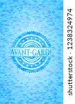 avant garde realistic sky blue...   Shutterstock .eps vector #1238324974