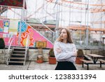 portrait of a beautiful...   Shutterstock . vector #1238331394