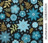 seamless floral pattern with... | Shutterstock .eps vector #1238335024