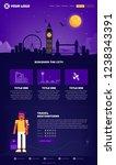 london city webpage design... | Shutterstock .eps vector #1238343391