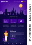 barcelona city webpage design... | Shutterstock .eps vector #1238343397