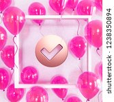 realistic fuchsia balloons with ... | Shutterstock . vector #1238350894