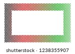 rectangular border frame made... | Shutterstock .eps vector #1238355907