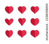 heart icons  concept of love.... | Shutterstock .eps vector #1238358004