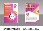 pink color  cover template ... | Shutterstock .eps vector #1238368567