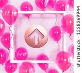 realistic fuchsia balloons with ... | Shutterstock . vector #1238369944