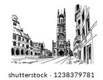 vector sketch of  the saint... | Shutterstock .eps vector #1238379781