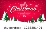 merry christmas message  tree... | Shutterstock .eps vector #1238381401