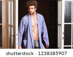 sexy attractive macho tousled...   Shutterstock . vector #1238385907