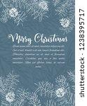christmas sketch hand drawn...   Shutterstock .eps vector #1238395717