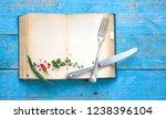 vintage recipe book or cookbook ... | Shutterstock . vector #1238396104