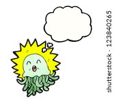 cartoon poison jellyfish | Shutterstock .eps vector #123840265