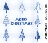 hand drawn illustration of... | Shutterstock .eps vector #1238409181