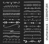 hand drawn set of line border... | Shutterstock .eps vector #1238409184