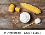flat lay composition with corn...   Shutterstock . vector #1238411887