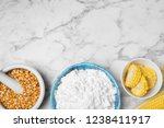 flat lay composition with corn...   Shutterstock . vector #1238411917