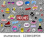 vector set of teens stickers... | Shutterstock .eps vector #1238418934