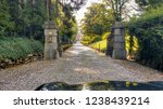 car view of vintage mansion gate | Shutterstock . vector #1238439214