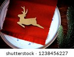 christmas holiday dining with... | Shutterstock . vector #1238456227