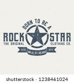born to be a rockstar   vintage ... | Shutterstock .eps vector #1238461024