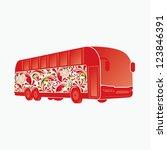 beautiful coach bus. | Shutterstock .eps vector #123846391