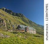 franz senn hutte  2 147 m asl ... | Shutterstock . vector #1238476981